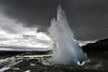 "September 2008. The famous geyser ""Strokkur"" which erupts every 5-15 minutes."