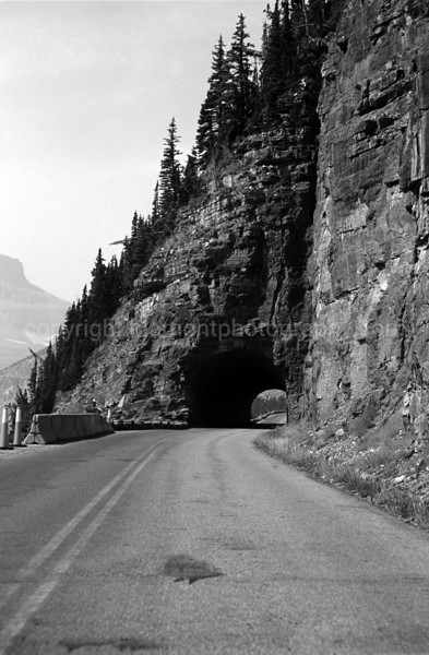 Going to the Sun Rd. Tunnel...headin sw.