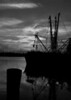"""Supper's Ready""... Greyscale image for those who enjoy color, or Black and White. I will offer this option on selected images. This a docked Shrimper @ sunset on the Halifax River, Daytona Beach Fl. #2 Greyscale"