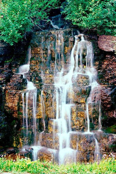 Weeping Wall... Honeydew and the Milk of Paradise. Glacier National Park along Goin to the Sun Rd. Inspired by Brad Hinke and Dave Marx, shot Tungsten slide film... Please google their names and enjoy their work as Great Photographers and Teachers!!! =)