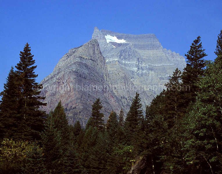 Breaching Mountain, Glacier National Park, color