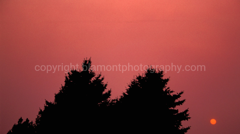 Missoula Valley 03...Black Mountain firesmoke @ sunset.