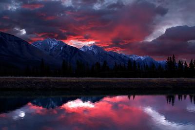 Apocalyptic morning near Banff