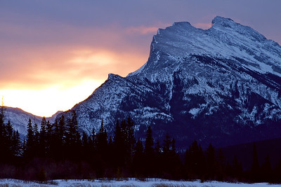 Mt. Rundle winter sunrise