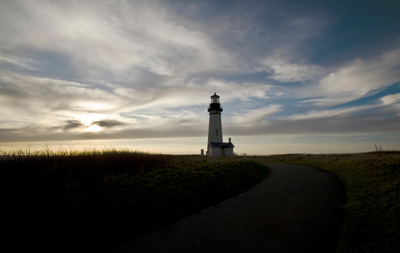 Yaquina Head Lighthouse at the Yaquina Head Outstanding Natural Area in Newport, OR. March 2011