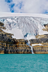 """""""The source"""" - The Bow river starts here with Bow Glacier and Iceberg Lake"""