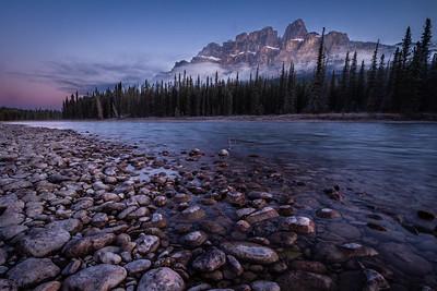 Fall Castle mountain sunrise