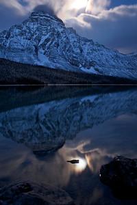 Mt Chephren in the moonlight