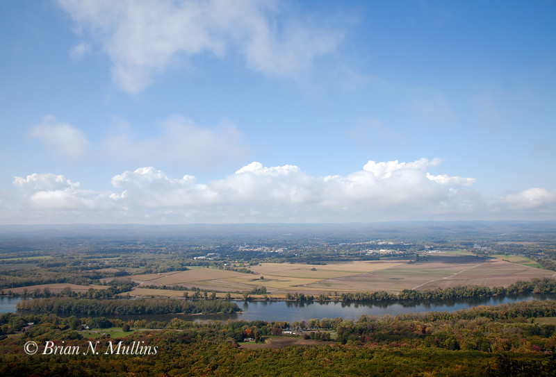 Early autumn-overlooking the Connecticut River: Massachusetts