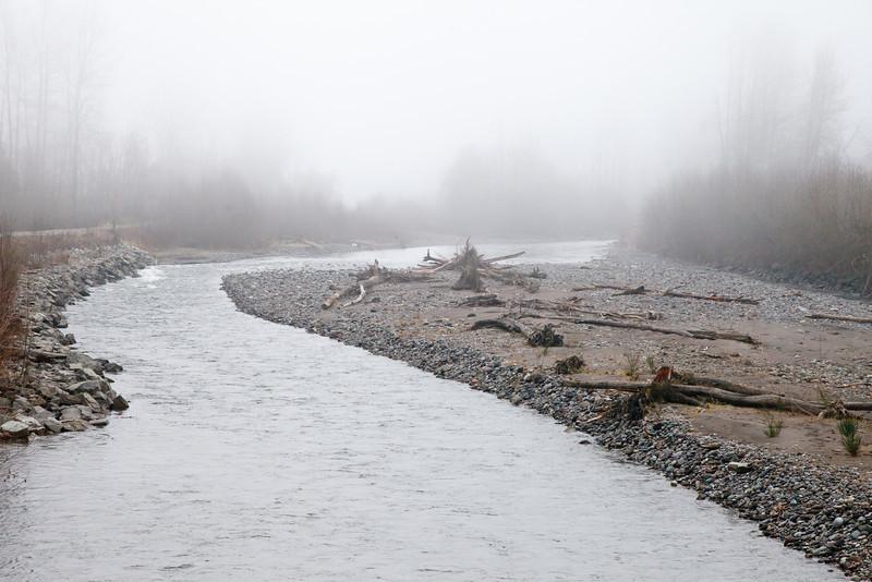 Upstream in the Fog
