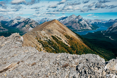 Hiking the ridge