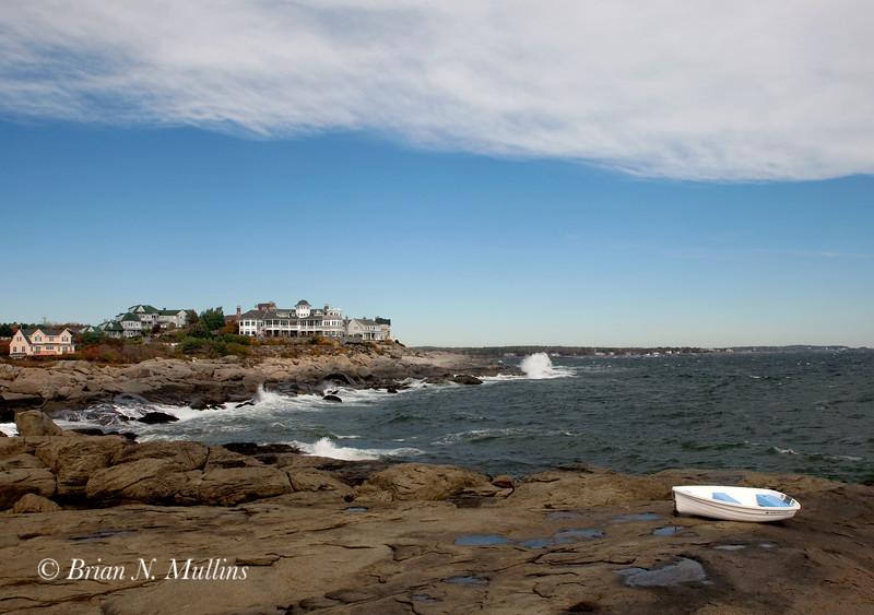 Maine Coastline on a cold, crisp October morning.