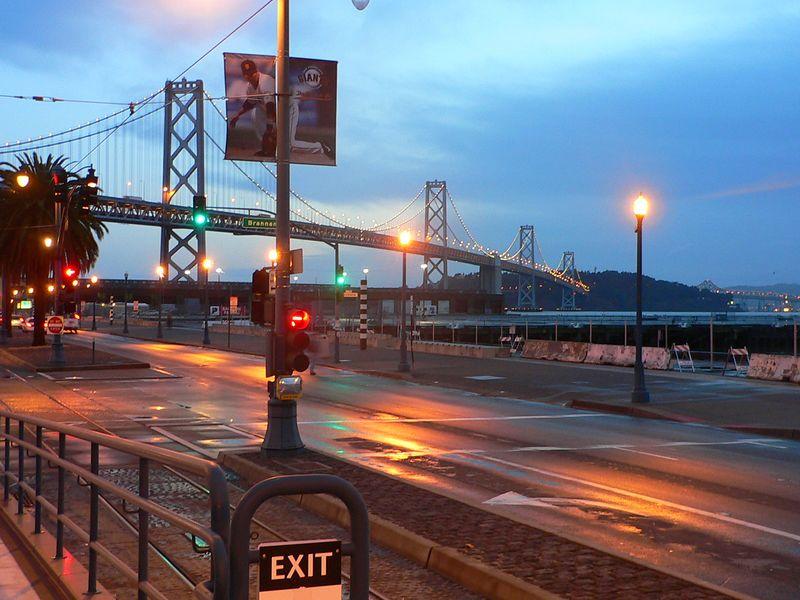 Bay Bridge, early morning.