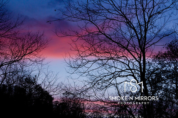 Pleasant Pink Evening<br /> <br /> As the sun moves on, the work of the day lingers on the horizon, rewarding us for our toils.