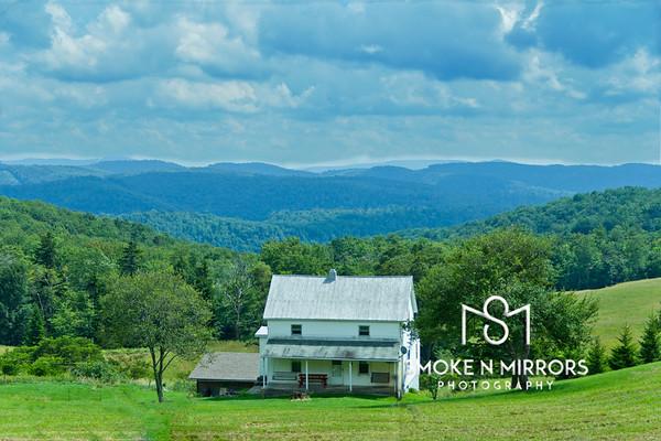 Farm House Vista<br /> <br /> This mountain top farm has a fantastic view for miles.
