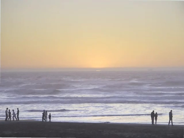 Sunset at Ocean Beach...