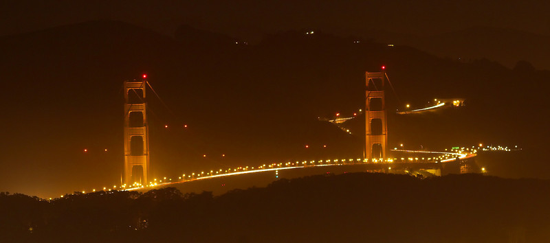 Golden Gate Bridge-shot from Twin Peaks.