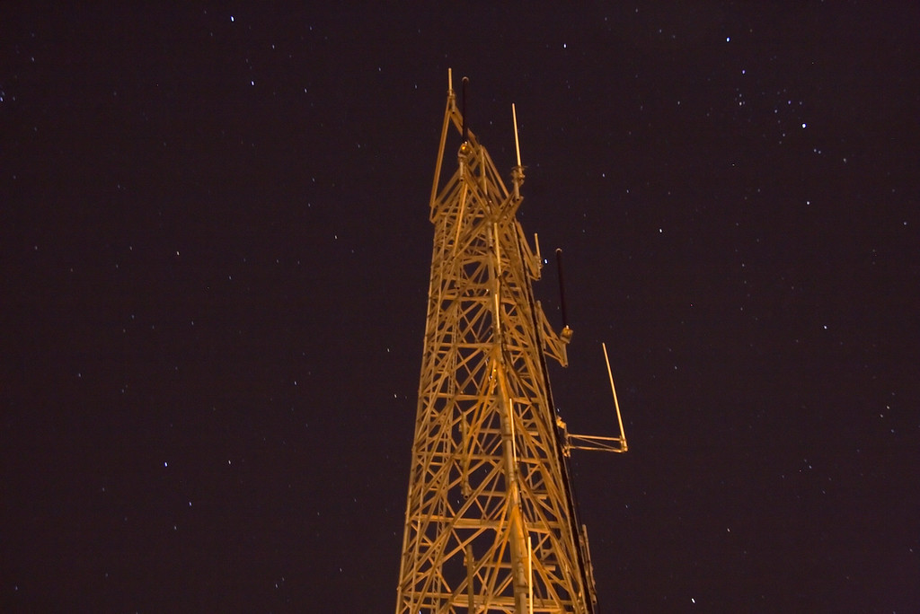 stars around a radio tower at Twin Peaks...