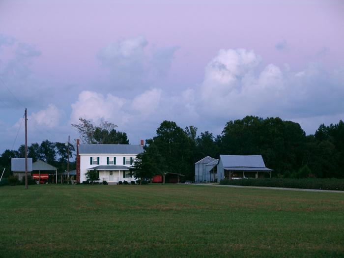 Twilight View of the Byrums Farm<br /> Zuni, VA<br /> 05 September 2005