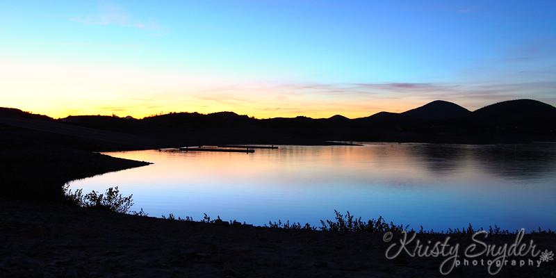 Lake Pleasant 10-lane boat ramp sunset