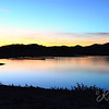 Lake Pleasant 10-lane boat ramp sunset