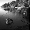 Icy morning at Cranberry lake as shot with 80mm lens on medium format camera and TriX film.