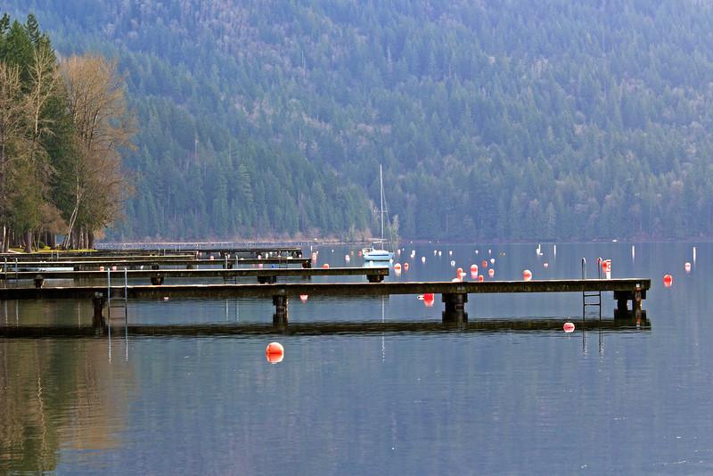 Docks, buoys and boats