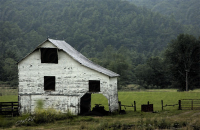 Old Barn in Virginia- Water Paper