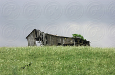 Old Barn on a hill in Virginia