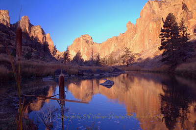 Winter reflection in Smith Rock State Park.