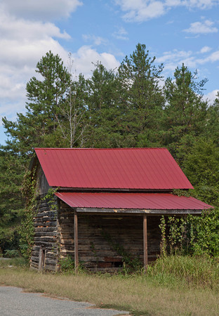 Cabin with Red Roof Southern Virginia-1