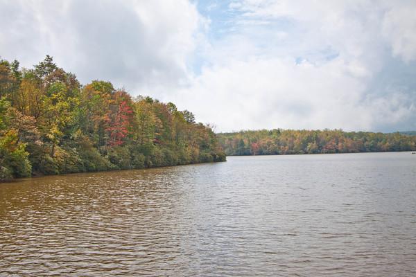 Grandfather Mountain Lake in Fall
