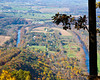 One bend of the Shenandoah River from the Woodstock Tower