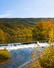 Fall colors explode at Burnshire Dam, Woodstock VA