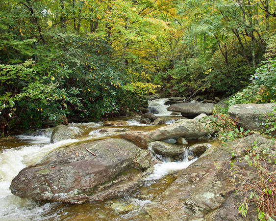 Stream on Grandfather Mountain, NC in Fall