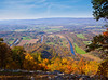 bends of the Shenandoah River from the Woodstock Tower