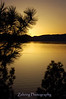 Golden sunset blankets the water at Lake Tahoe, Nv.