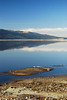 Mirror like reflection over Washoe Lake, Just south of Reno, Nv.