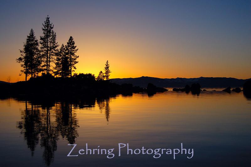 Sunset at Sand Harbor state park, Nv.