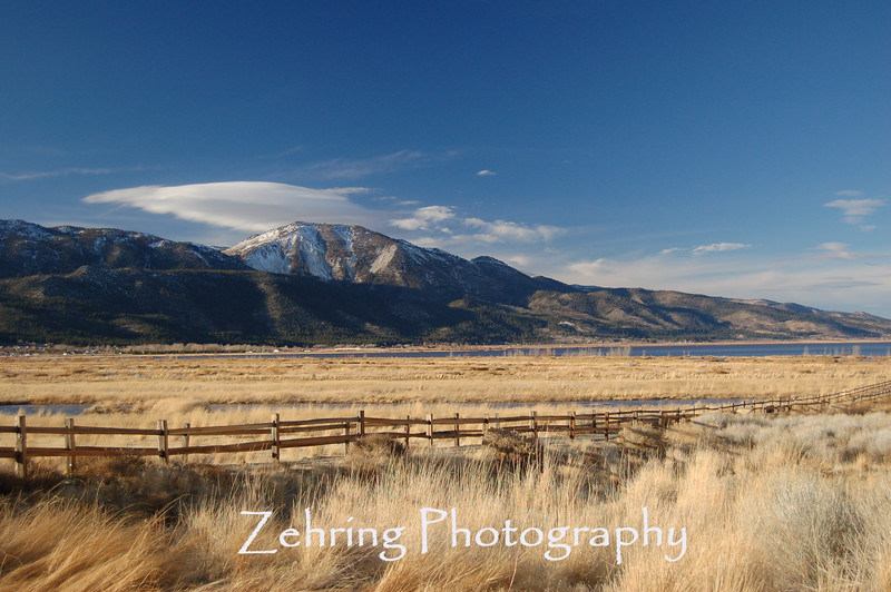 "View of ""Slide Mountain"", Washoe Valley, NV."