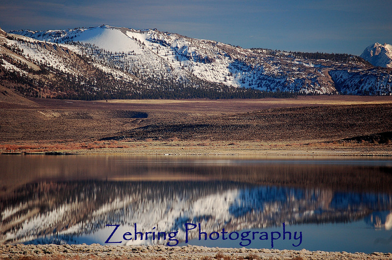 Calm afternoon adds serene magic to this Mono Lake vista, in California near the eastern entrance to Yosemite Nat'l Park.