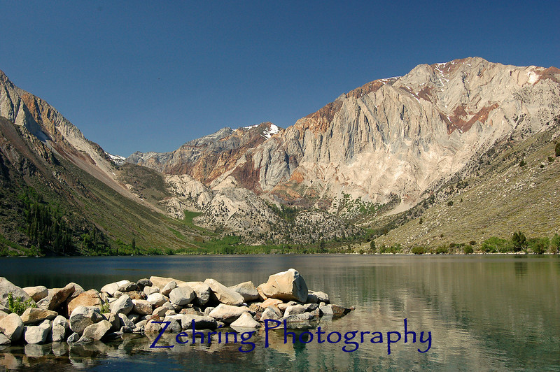 Convict Lake, one of hundreds of pristine alpine lakes dotted throughout the Sierra Navada Range.