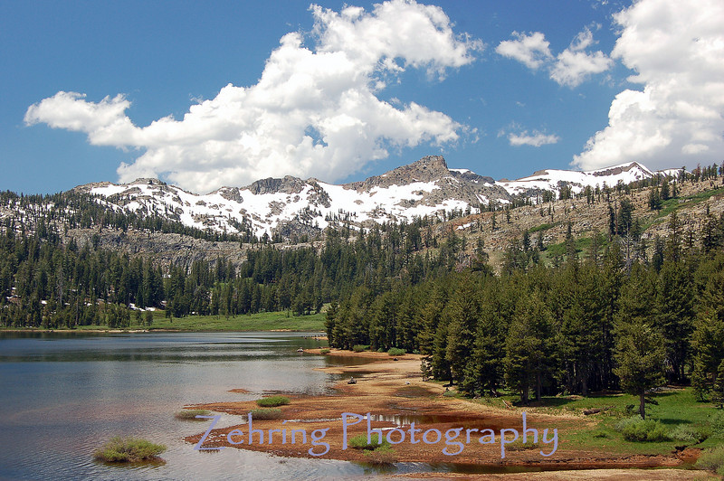 The fantastc blue skies only add to the already perfect blue waters of Upper Blue Lake, CA.