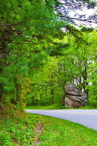 Scenic drive along Blue Ridge Parkway