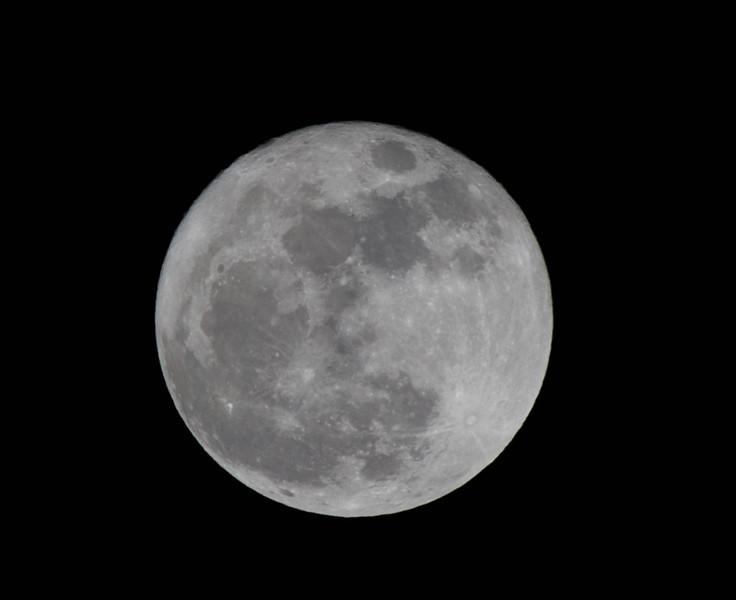 Full moon shining over Woodstock VA