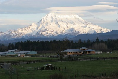 Mt Rainier taken from our home