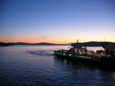 Taken from the Ferry from Swartz Bay BC at dawn