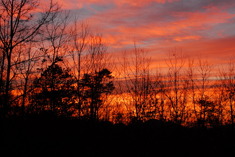 Sunrise at High Rock Acres, Black Mountain, NC