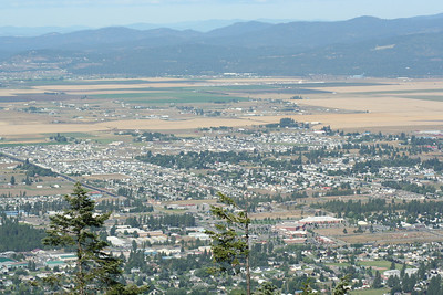 View of Hayden from Canfield Mt.  If you look real close you can see our house.