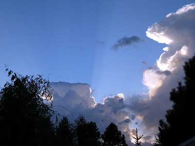 View of the clouds from our back yard. Sept 2010